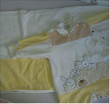 Saída de maternidade Ursinho bege e amarelo - Recém Nascido - Beth Bebê