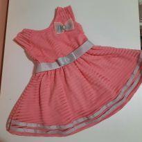 Vestido rosa de festa - 6 meses - Angerô