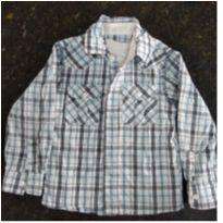 Camisa xadrez com camiseta anexa - 1 ano - Trick