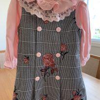 Vestido de rosas Silmara - 9 a 12 meses - Silmara