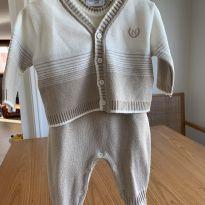 Conjunto macacão com casaquinho - 3 meses - Noruega Baby