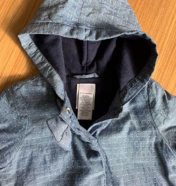 Casaco azul lacinho e capuz GYMBOREE - 9 a 12 meses - Gymboree