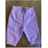 Calça moletom quentinha rosa de ursinho - 0 a 3 meses - Baby Gap