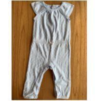 Macacão manga curta azul bolinhas - 6 meses - Carter`s