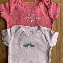 2 body cor de rosa Carters - 6 meses - Carter`s