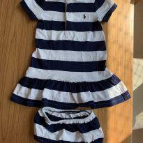 Vestido listrado Polo Ralph Lauren - 18 meses - Polo Ralph Lauren