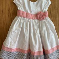 Vestido festa GYMBOREE com rosa - 12 a 18 meses - Gymboree