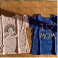 Camisetas Carters rosa e azul - 2 anos - Carter`s