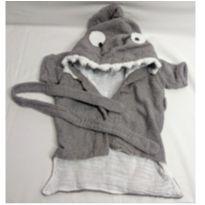 Roupão Tubarão - 0 a 3 meses - Não informada
