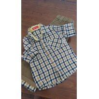 Conjunto Camisa Xadrez e Calça Caramelo - 2 anos - Importada