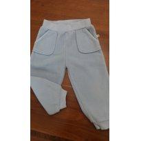Calça em Fleece Azul clara - 12 a 18 meses - Teddy Boom
