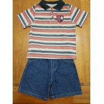 Conjunto Carter`s Camiseta Polo e bermuda jeans - 2 anos - Carter`s