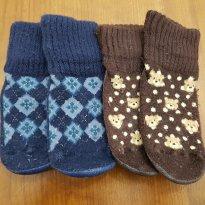 Kit com 2 pares de meias de Lã Puket - 9 a 12 meses - Puket