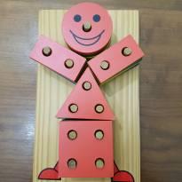 Brinquedo educativo Boneco Geométrico -  - Carimbras