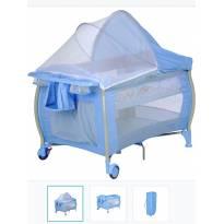 Berço portátil Burigotto azul -  - Burigotto