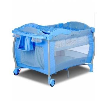 Berço portátil Burigotto azul - Sem faixa etaria - Burigotto