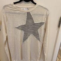Camiseta Manga Longa - 14 anos - Zara
