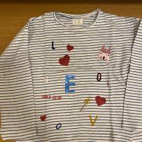 Camiseta Manga Longa - 24 a 36 meses - Zara