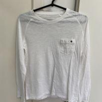 Camiseta Manga Longa - 8 anos - Zara