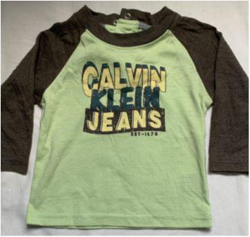 Camiseta Importada Calvin Klein - 6 a 9 meses - Calvin Klein