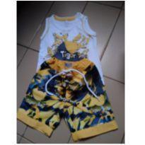Conjunto camiseta e bermuda - 6 a 9 meses - Tigor T.  Tigre e Tigor Baby