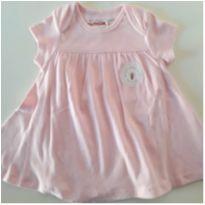Vestido/Body Importado de Malha Orgânica (NOVO) - 6 a 9 meses - Burt`s Bees Baby (USA)