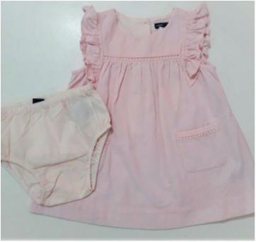 Vestido Rosa Bebê I DESAPEGO - 18 a 24 meses - Baby Gap