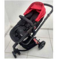 Carrinho bebê Safety Mobi 1ST - vermelho e preto Completo -  - Safety 1st