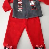 Conjunto flanelado Disney baby - 6 a 9 meses - Disney baby