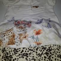 Conjunto de blusa e short bege/marrom Carinhoso - 6 a 9 meses - Carinhoso