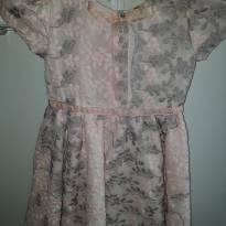 Vestido de festa rosa bordado Luluzinha - 2 anos - Luluzinha
