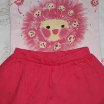 Conjunto de blusa e saia/short Abrange - 24 a 36 meses - Abrange