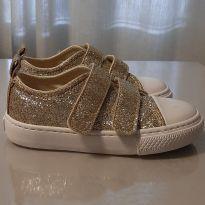Tênis dourado glitter - 24 - Ludique et Badin