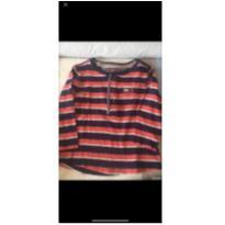 Camiseta manga comprida listrada - 1 ano - Tommy Hilfiger