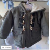 Jaqueta cinza com forro peluciado - 1 ano - Sem marca