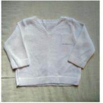 Suéter branco P - 0 a 3 meses - Fofinho