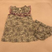 Vestido e tapa fralda animal print Child of Mine - tam 3m - 0 a 3 meses - Child of Mine