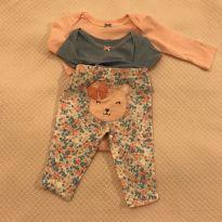 Conjunto 2 bodies + calça Carter`s - tam 3m - 0 a 3 meses - Carter`s