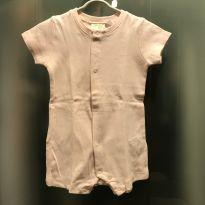 Macaquinho / Romper rosa bebê Zara - tam 6/9m - 6 a 9 meses - Zara Baby e Zara