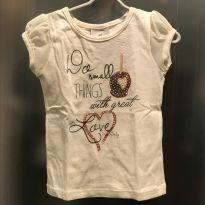 Camiseta manga curta Up Baby - tam 6m - 3 a 6 meses - Up Baby