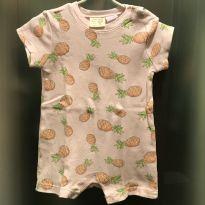 """Macaquinho / Romper """"abacaxi"""" Zara - tam 6/9m - 6 a 9 meses - Zara Baby e Zara"""