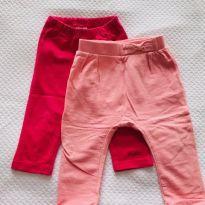 2 calças (legging PUC e saruel Zara Baby) - tam 9m - 9 meses - Zara Baby e PUC