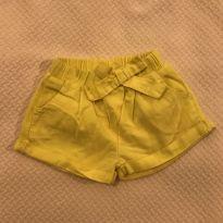 Short amarelo Zara Baby - tam 9m - 6 a 9 meses - Zara Baby