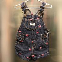 Jardineira jeans bordado com borboletas Osh Kosh B`Gosh - tam 9m - 6 a 9 meses - OshKosh