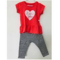 Conjuntinho legging (Zara Baby) e camiseta manga curta (Hering Kids) - tam 9m - 6 a 9 meses - Zara Baby e Hering Kids