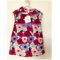 Vestido florido em veludo cotelê Gymboree (nunca usado) - tam 9m - 9 meses - Gymboree