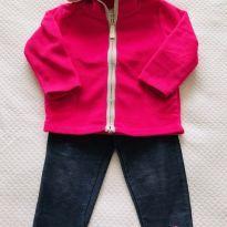Legging jeans + jaqueta fleece Carter`s - tam 18m - 12 a 18 meses - Carter`s