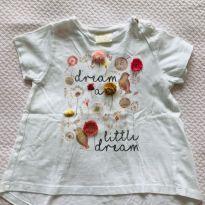 Camiseta Zara Baby Girl - tam 12/18m - 12 a 18 meses - Zara Baby