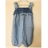 Macaquinho / Romper jeans Osh Kosh B`Gosh - tam 24m - 18 a 24 meses - OshKosh