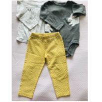 Conjuntinho 2 camisetas manga comprida + calça Carter`s - tam 24m - 18 a 24 meses - Carter`s